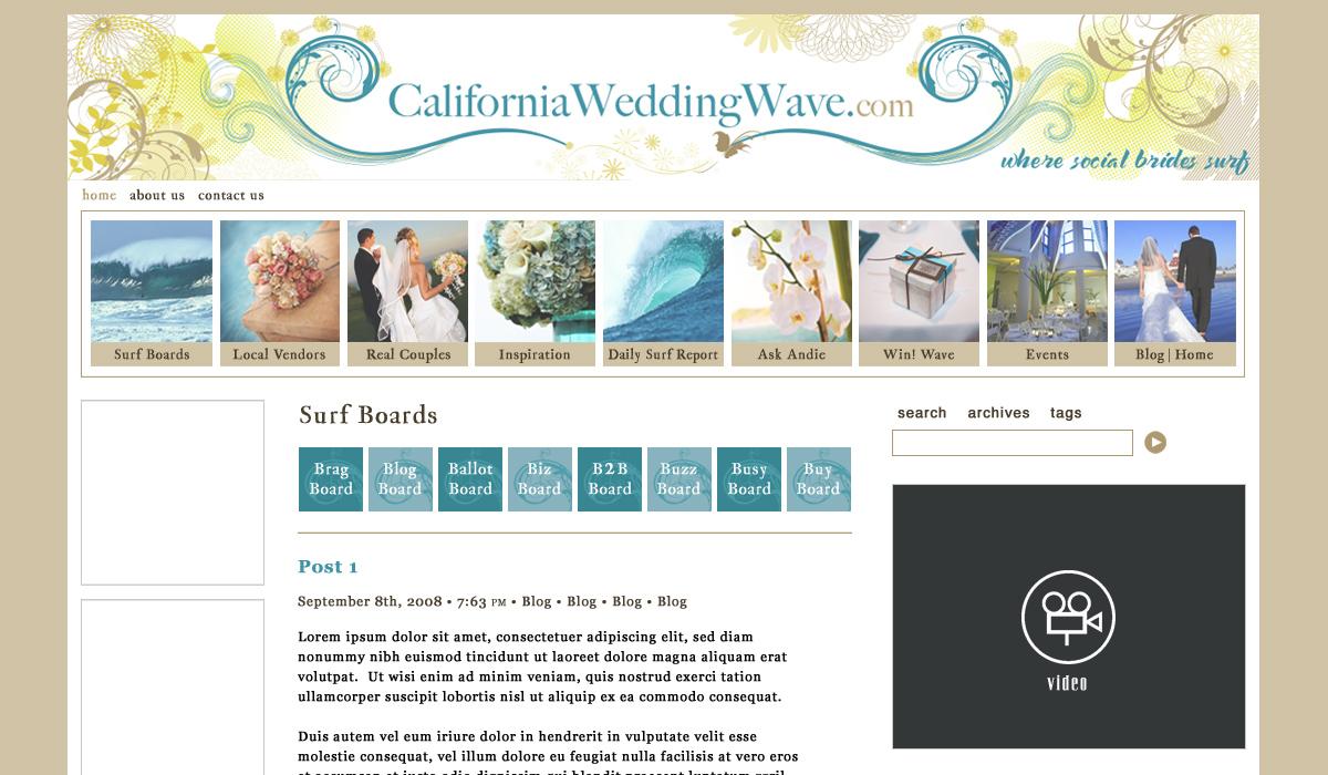 California Wedding Wave
